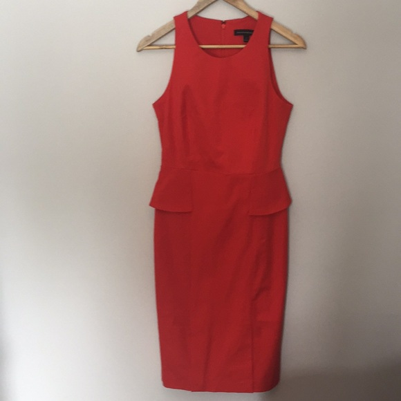 Banana Republic orange/red dress size 4